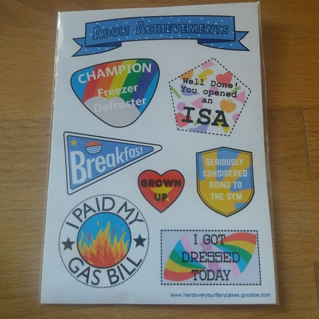 Adult Achievements stickers