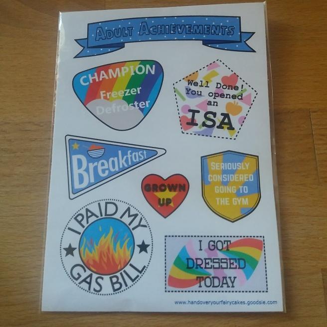 Adult Achievements stickers