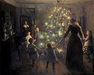 Glade Jul (Happy Christmas) by Viggo Johansen (1891) - my favourite image of Christmas & one that for me evokes the softness and comfort of a quiet December || raeritchie.com