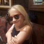 Big Niece modelling my Ray-Ban Clubmasters || In the shades: the enduring appeal of Ray-Ban sunglasses