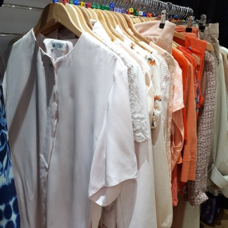 Red and pink options to try in Myton Fargo charity shop, Coventry