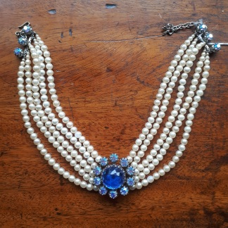 Nod to the Princess Diana trend with a paste sapphire - My charity shop finds at Myton Fargo, Coventry: charity shop shopping with Myton Hospices Part II || raeritchie.com