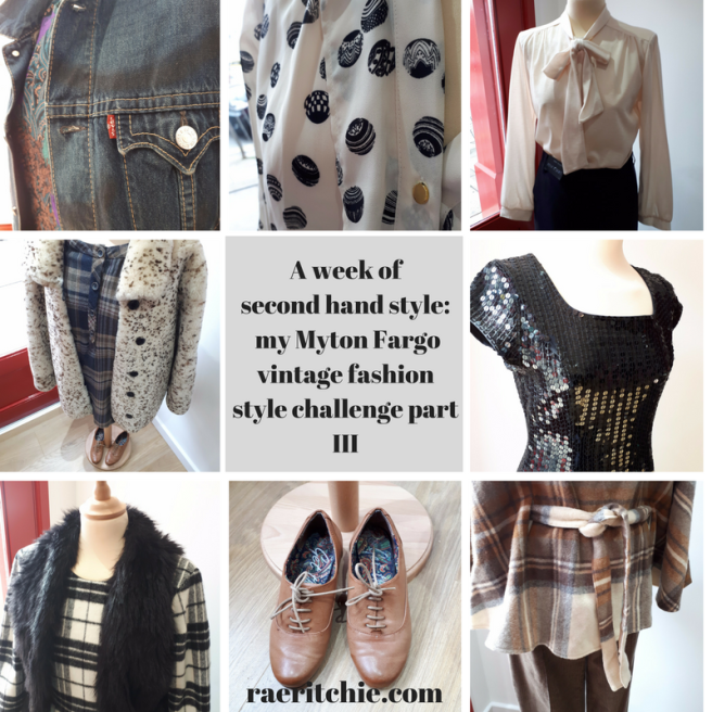 A week of second hand style- my Myton Fargo vintage fashion style challenge part III